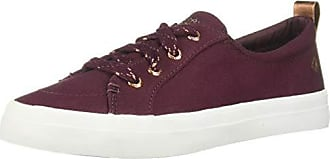 Sperry Top-Sider Womens Crest Vibe Canvas Sparkle Sneaker, Vineyard Wine, 5 M US