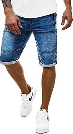 bee88b15ae884d OZONEE Jeans-Shorts Kurze Hose Bermuda Denim Jeans Herren Hose Jeanshose  Straight-Cut Freizeithose