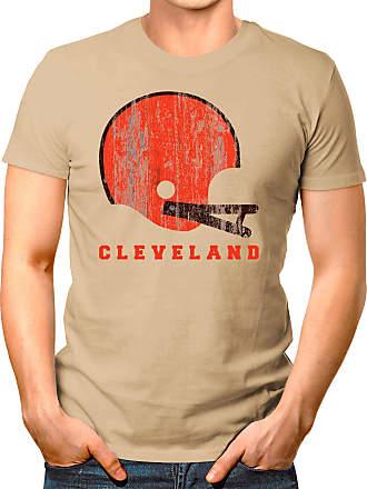 OM3 Cleveland-Helmet - T-Shirt | Mens | American Football Shirt | XL, Khaki