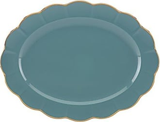 Lenox Marchesa Shades of Teal Oval Platter by Lenox