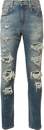 R13 ripped skinny jeans - Blue