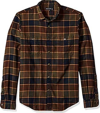 J.crew Mens Slim-Fit Long-Sleeve Flannel Plaid Shirt, Dark Espresso, L