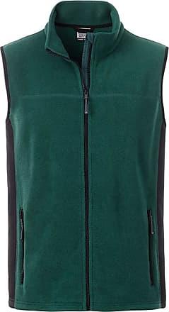 James & Nicholson JN856 Mens Workwear Fleece Vest/Gilet Dark-Green/Black 5XL