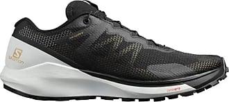 Salomon Mens Sense Ride Competition Running Shoes, Multicolor (Black/White/Black), 11.5 UK