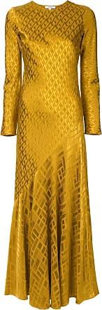 Layeur Vestido longo com estampa - Amarelo
