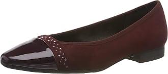 Jana Womens 8-8-22166-23 Closed Toe Ballet Flats, Red Vino 502 0, 4 UK