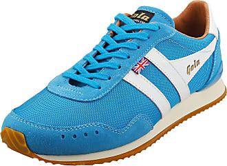 Gola Track 317 -Made in England- Mens Casual Trainers in Blue White - 10 UK