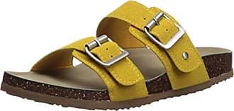 541efe5c87d4a Madden Girl Womens Brando Slide Sandal Mustard 8.5 M US