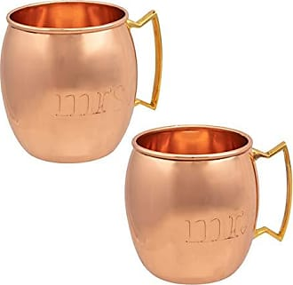 Old Dutch International ODI Moscow Mule Kit with Mr. and Mrs. Moscow Mule Copper Mugs, Moscow Mule Cups 16 Ounces Solid Copper
