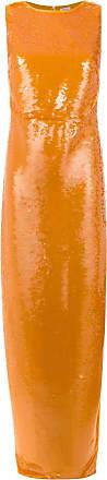 Tufi Duek Vestido longo de paetê - Amarelo