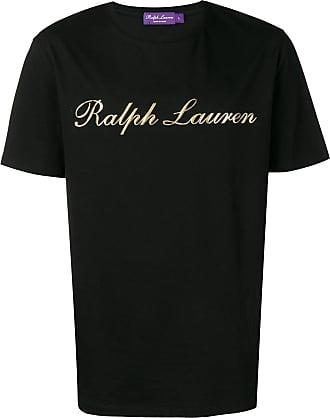 Ralph Lauren Purple Label Camiseta com logo contrastante - Preto