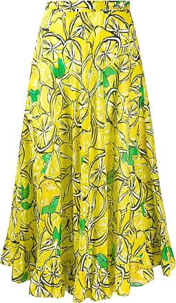 Diane Von Fürstenberg Clarissa voile beach wrap skirt - Amarelo