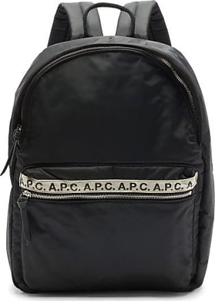 A.P.C. Repeat Logo-trim Padded-nylon Backpack - Mens - Black
