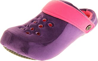 Dunlop Womens Adjustable Back Strap Lightweight Mule Clog Slippers Purple/Fuchsia UK 3-4