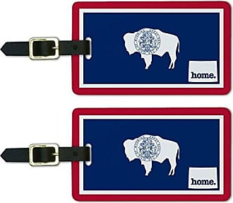 Graphics & More Graphics & More Wyoming Wy Home State Luggage Suitcase Id Tags-Flag, White