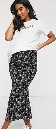 Asos Maternity ASOS DESIGN Maternity jersey midi slip skirt in black ditsy daisy print