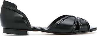 Sarah Chofakian panelled ballerinas - Di colore nero