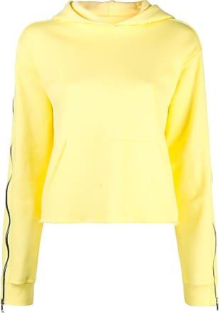 Rta Moletom com detalhe contrastante e capuz - Amarelo