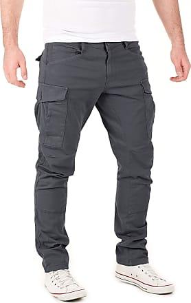 Yazubi Mens Casual Cargo Trousers Chino Jayden Chino Men Casual Cargo Pants Slim Fit Jogger Skinny, Grey (Nino Iron 193908), W33/L30