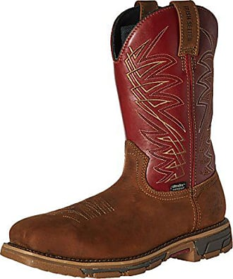 Irish Setter Work Mens 83916 Marshall 11 Inch Pull-on Steel Toe Boot, Brown/Red, 11.5 D US