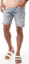 Jack & Jones denim shorts with a distressed finish