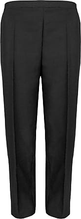 Women Ladies Elasticated Cotton Stretch Capri Cropped 3//4 Trousers Size 10-24