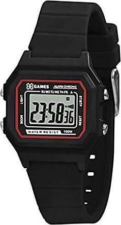X-Games Relógio Infantil Preto X-Games Digital Quadrado Pequeno +NF