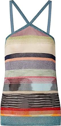 c6fcd0f6112145 Missoni Striped Metallic Crochet-knit Top - Blue