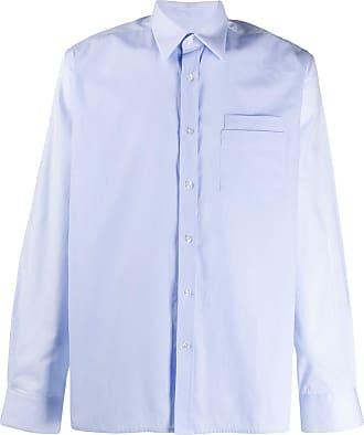 Inês Torcato Camisa mangas longas com sobreposição - Azul