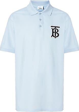 083f4147bc Burberry Monogram Motif Cotton Piqué Polo Shirt - Azul