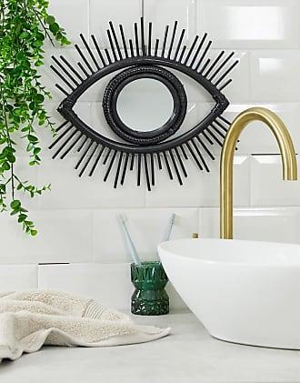 Asos eye mirror in black-Multi