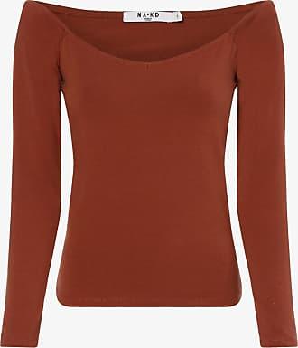 NA-KD Damen Langarmshirt orange