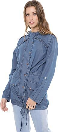 Dress To Jaqueta Parka Jeans Dress to Denim Eco Azul