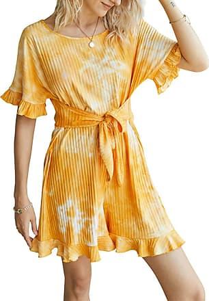 QIYUN.Z Womens Sexy Off Shoulder Short Sleeve Drawstring Waist Jumpsuit Romper Orange XL