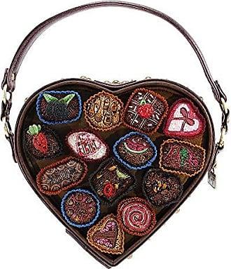 dcd43c11d43f Mary Frances Temptations Embellished Heart Shaped Box of Candy Novelty  Handbag