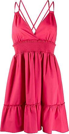 Red Valentino Vestido mini acinturado com franzido - Rosa