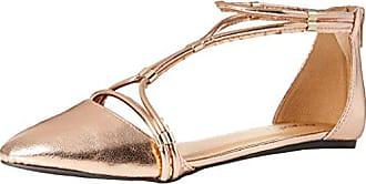 Qupid Womens SWIFT-244X Ballet Flat, Rose Gold, 5.5 M US