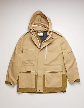 Acne Studios FN-MN-OUTW000281 Mushroom beige/taupe grey Cotton-twill field jacket