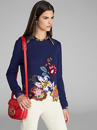 Etro Floral Embroidered Jumper, Woman, Navy Blue, Size 38