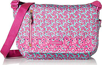 Vera Bradley Womens Lighten Up Laptop Messenger, Ditsy Dot