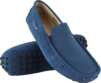 Zerimar Mocassins Men | Men Loafers Shoes Casual | Leather Mocassins Mens | Shoes Moccasins Mens Loafers | Mens Loafers Blue
