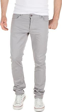 Yazubi Chino Trousers for Men Pants Slim Fit Casual Simon Cotton Smokey Cloud Light, Grey Gull (173802), W30/L34