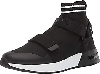 A|X Armani Exchange Mens Double Strap High Top Sneaker Black/White, 10 M US
