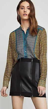 BCBGeneration Border Weave Tie-Front Shirt