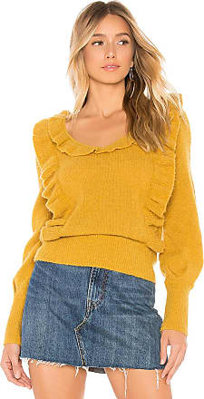 Tularosa Dahlia Ruffle Sweater in Mustard