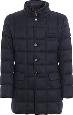 Fay Prince of Wales Long Padded Coat, XXL Blue