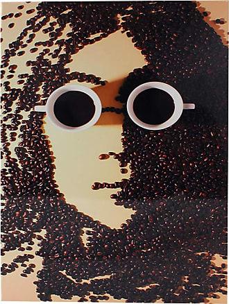 Zona Criativa Placa de metal john lennon coffee arte