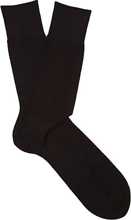 Falke N°9 Cotton-blend Socks - Mens - Black