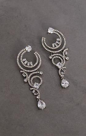 BCBGeneration Multi Curl Hoop Crystal Earring