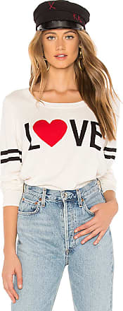 Chaser Love Crew Neck Pullover Sweater in White